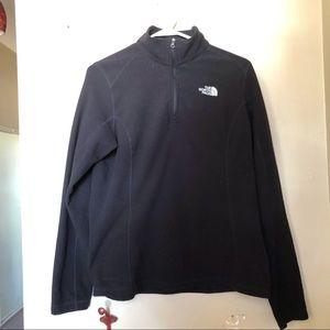 The North Face Half Zip Pullover Black Fleece Coat